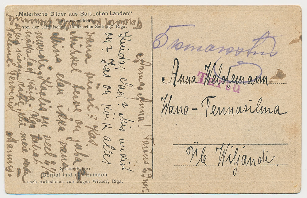 0238a-5k-makstud-Tartu-Vana-Tanassilma-1918-postiajalugu-ee