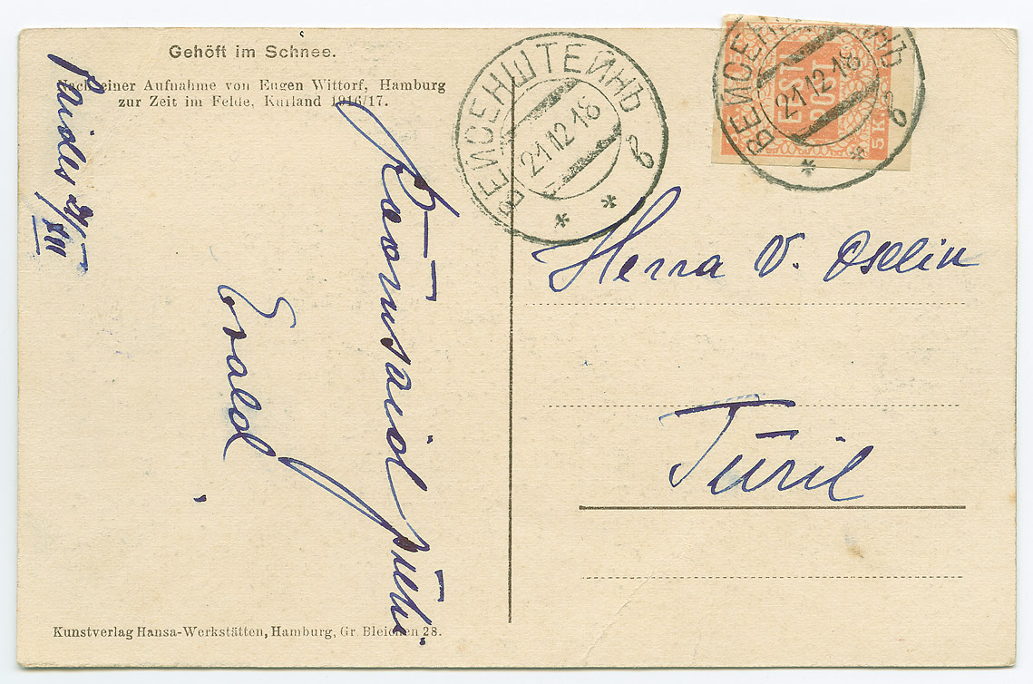 0359-Eesti-esimene-postmark-Paide-Türi-21-12-1918