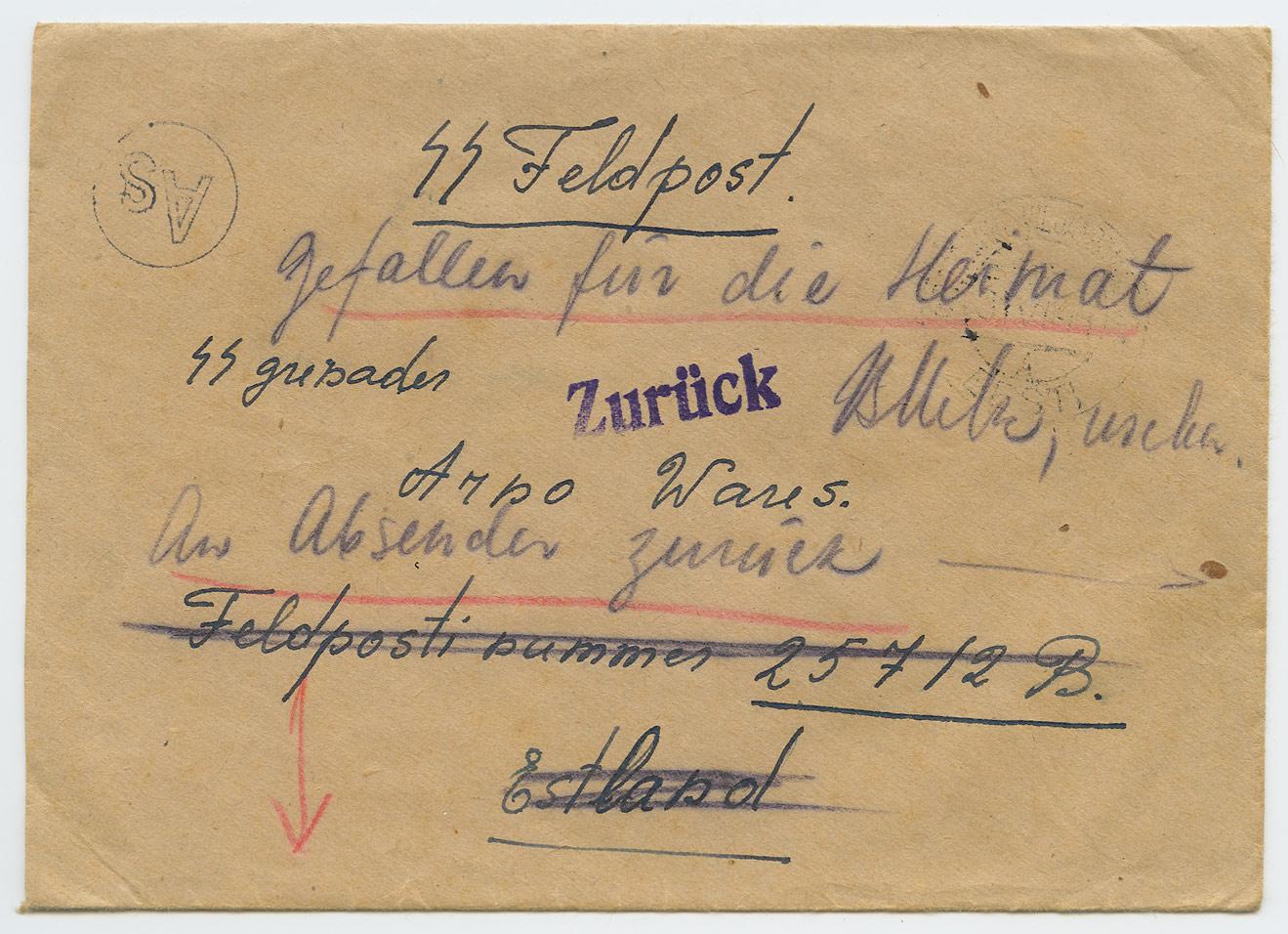 0476a-Gefallen-für-die-Heimat-Sinimäed-1944-postiajalugu-ee