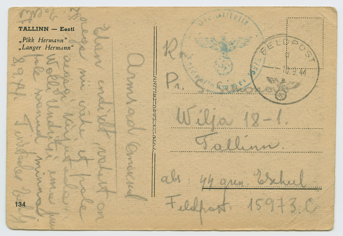 0617-Valipost-20-Eesti-diviis-46-rugement-III-pataljon-Scheel-09-1944-postiajalugu-ee