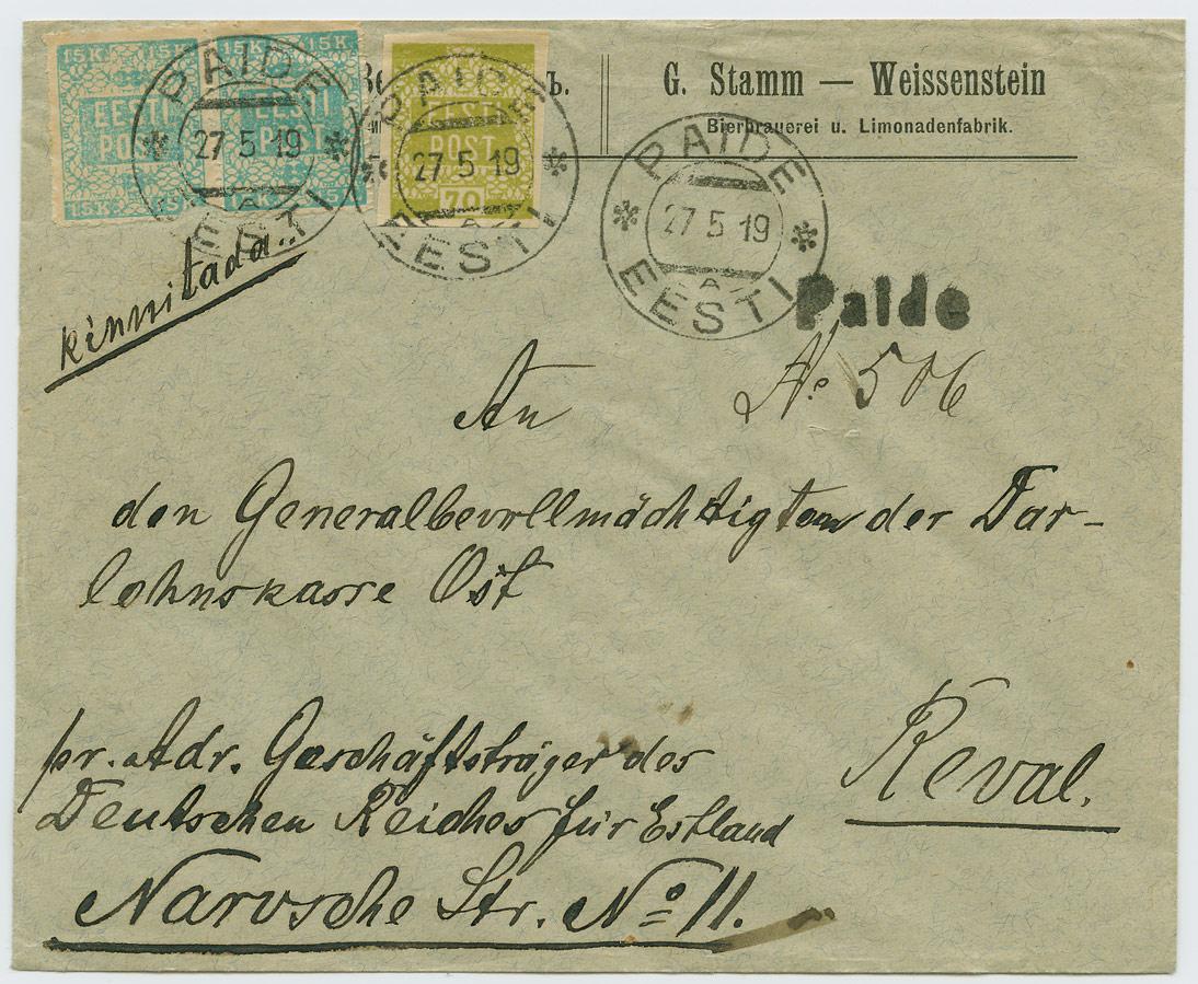 0635a-G-Stamm-olletehas-Paide-Tallinn-1919-postiajalugu-ee