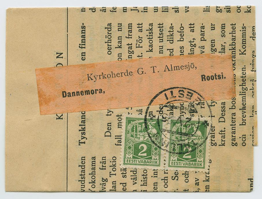 0663-Eestirootslaste-ajalehe-Kustbon panderoll-Tallinn-Dannemora-1925