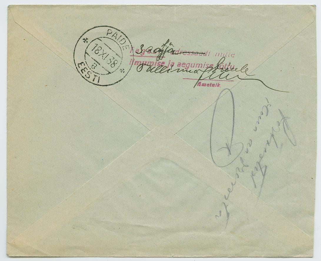 0692b-Paide-postkastist-ilma-aadressita-kiri-1938-postiajalugu-ee