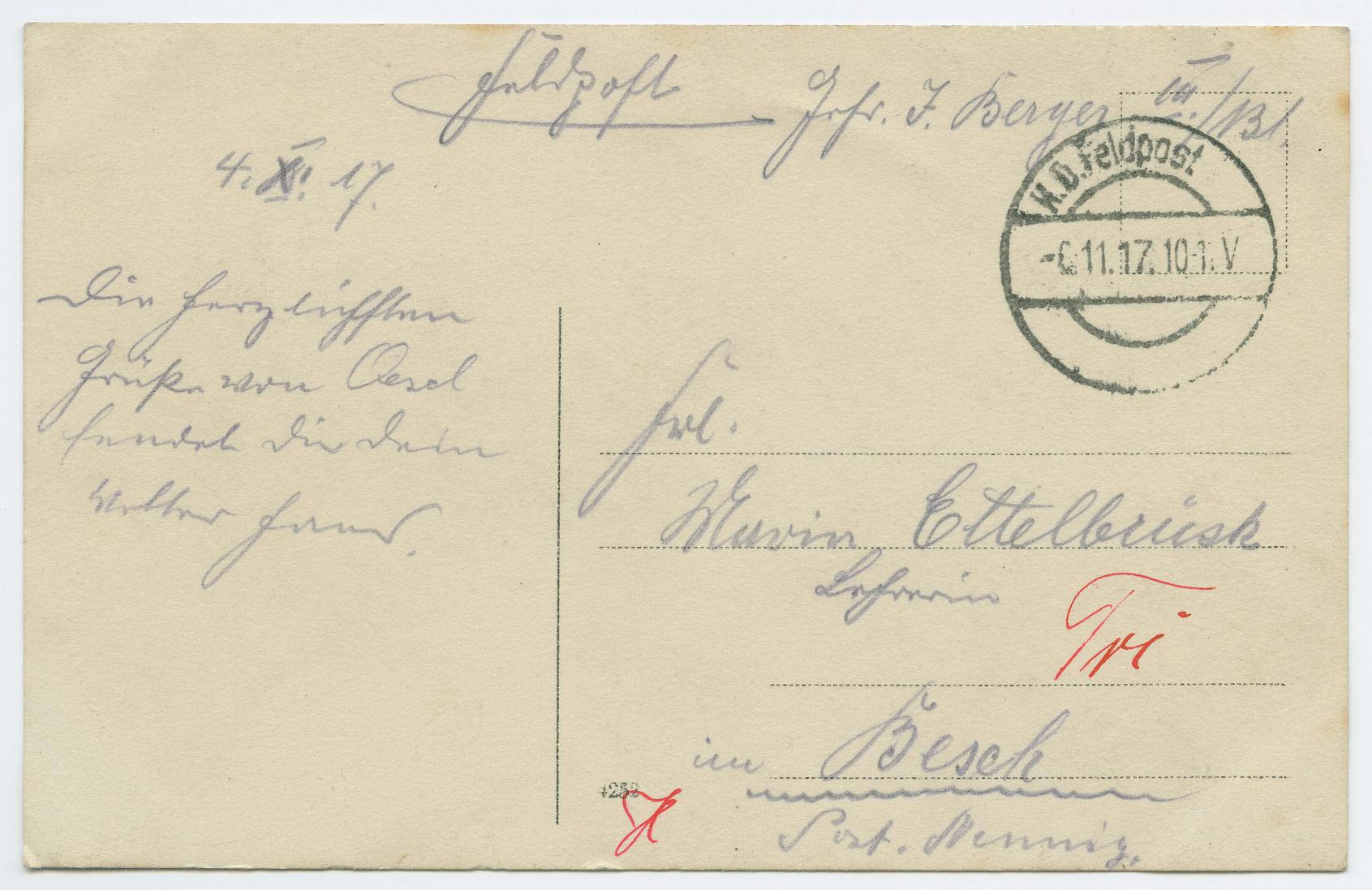 0755a-Feldpost-Estland-Ösel-Besch-1917