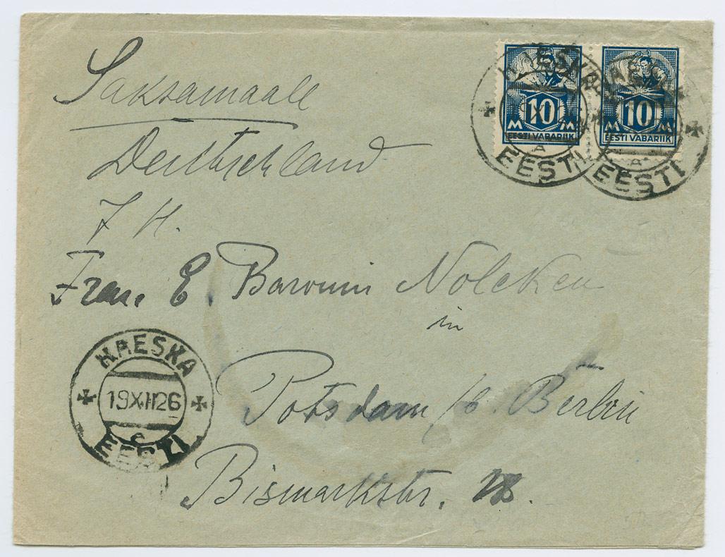 0799-Haeska-Potsdam-1926-postiajalugu-ee