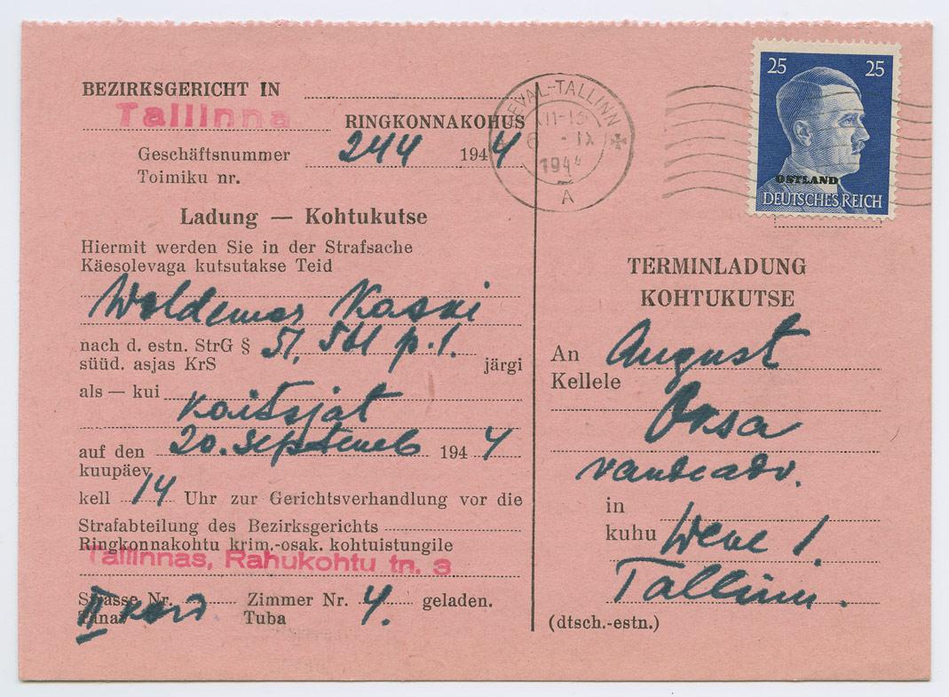 0817a-Ostland-Reval-Terminladung-kohtukutse-1944-postiajalugu-ee