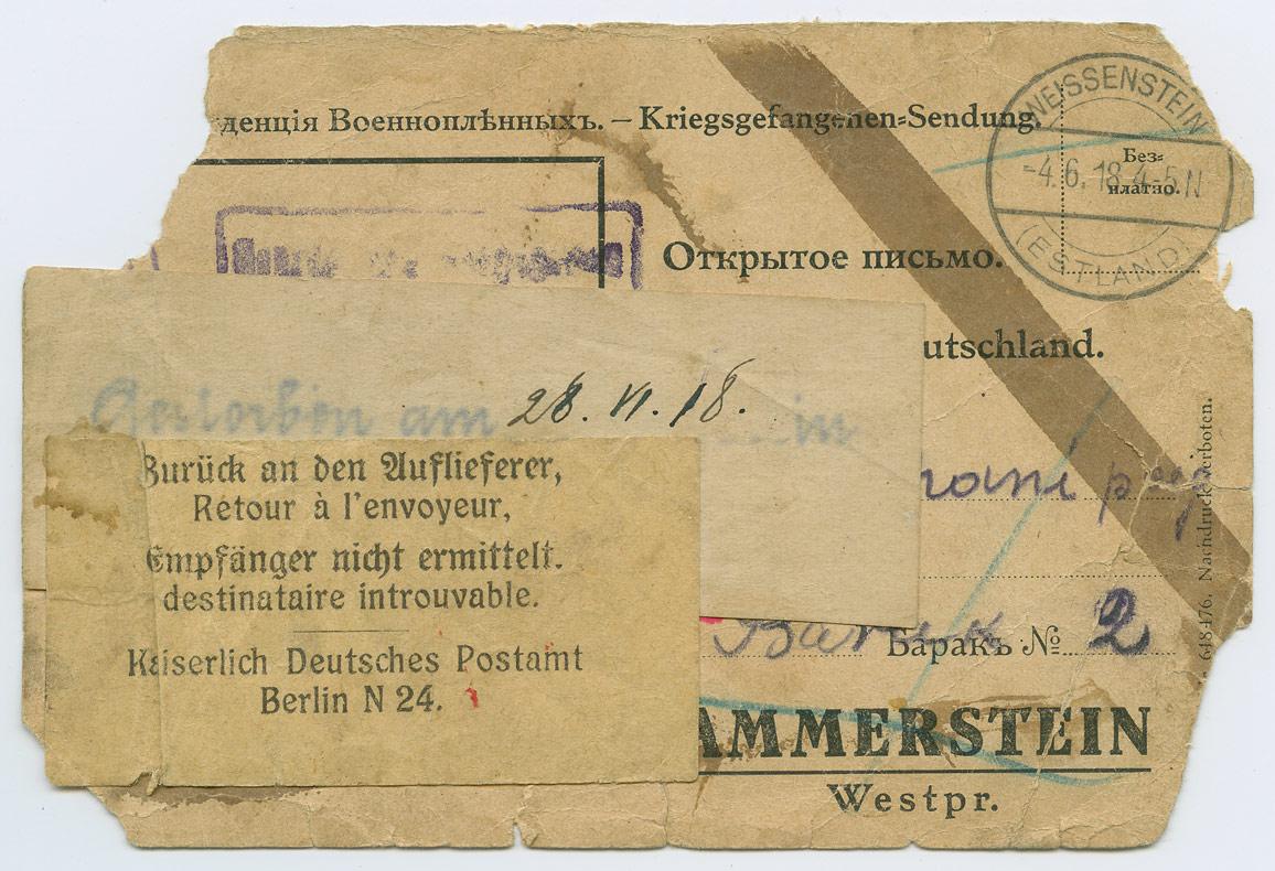 0827a-Weissenstein-Hammerstein-saaja-surnud-1918-postiajalugu-ee