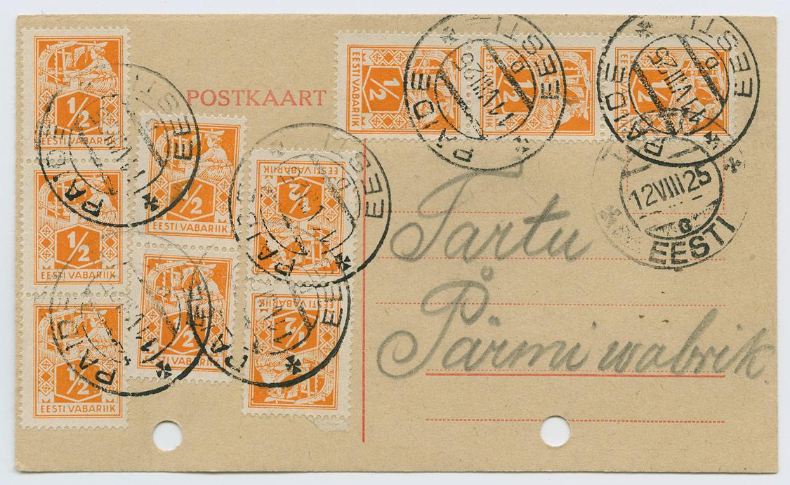 0920a-Paide-Tartu-Parmivabrik-1925-Sirul-postiajalugu-ee