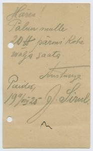 0920b-Paide-Tartu-Parmivabrik-1925-Sirul-postiajalugu-ee