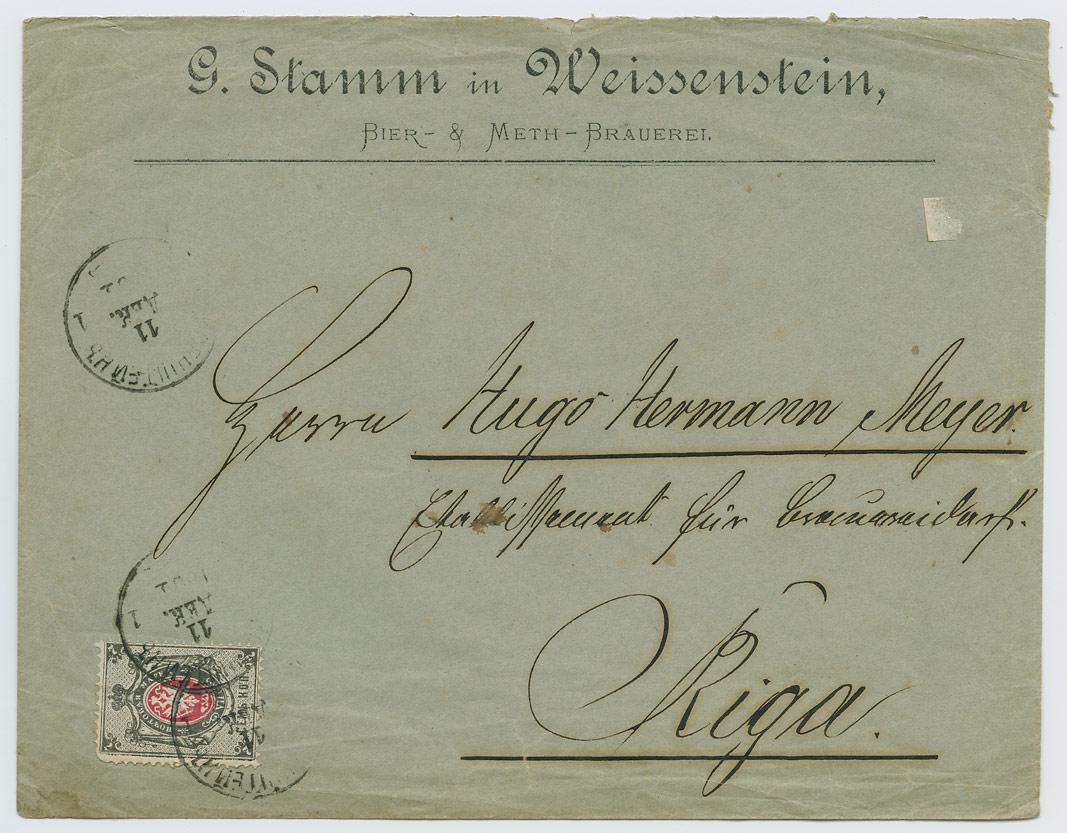 0933a-G-Stamm-Weissenstein-bierbrauerei-Riga-1881-postiajalugu-ee