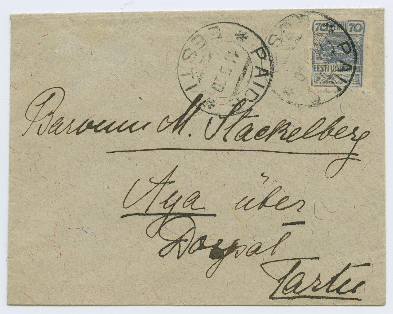 0936a-Paide-Ahja-mois-paruness-Stackelberg-1920-postiajalugu-ee