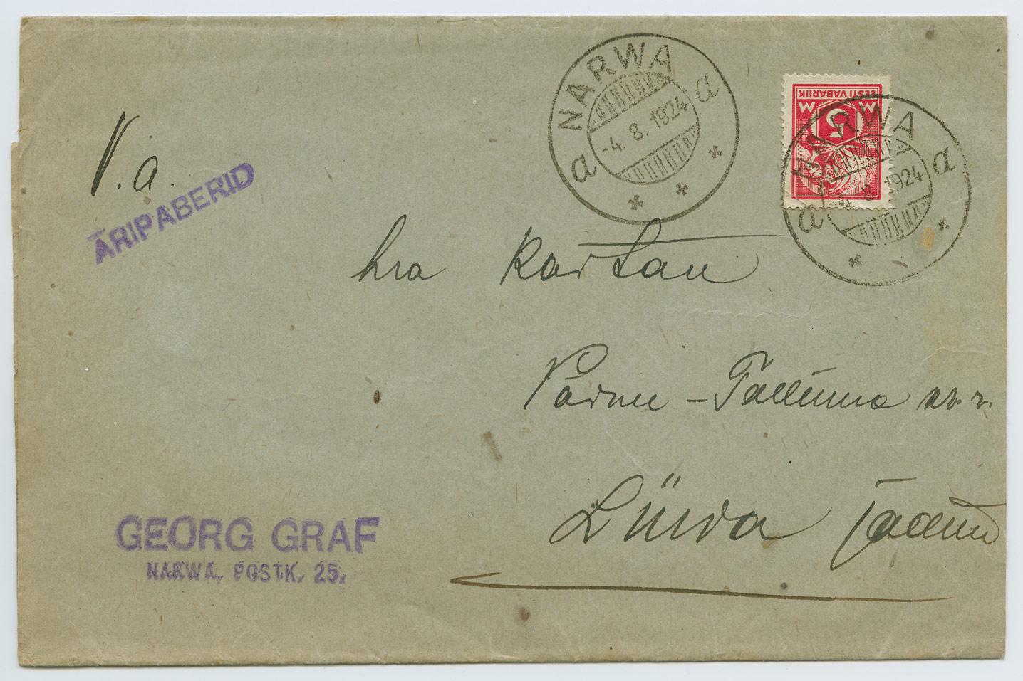 0988a-Georg-Graf-aripaberid-Narva-Liiva-1924-postiajalugu-ee
