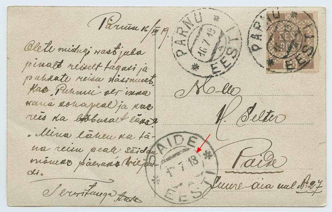 1048a-Paide-A-vale-aastanumbriga-Pärnu-Paide-Juuli-1919