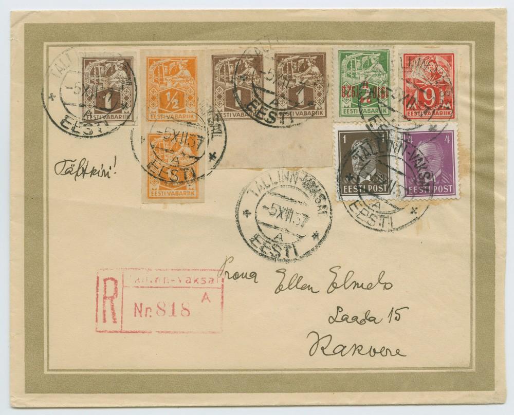 1073a-Mi68-kangur-tagurpidi-juubeliületrükk-1928-võltsing-August-Elmelo-Gregor-postiajalugu-ee