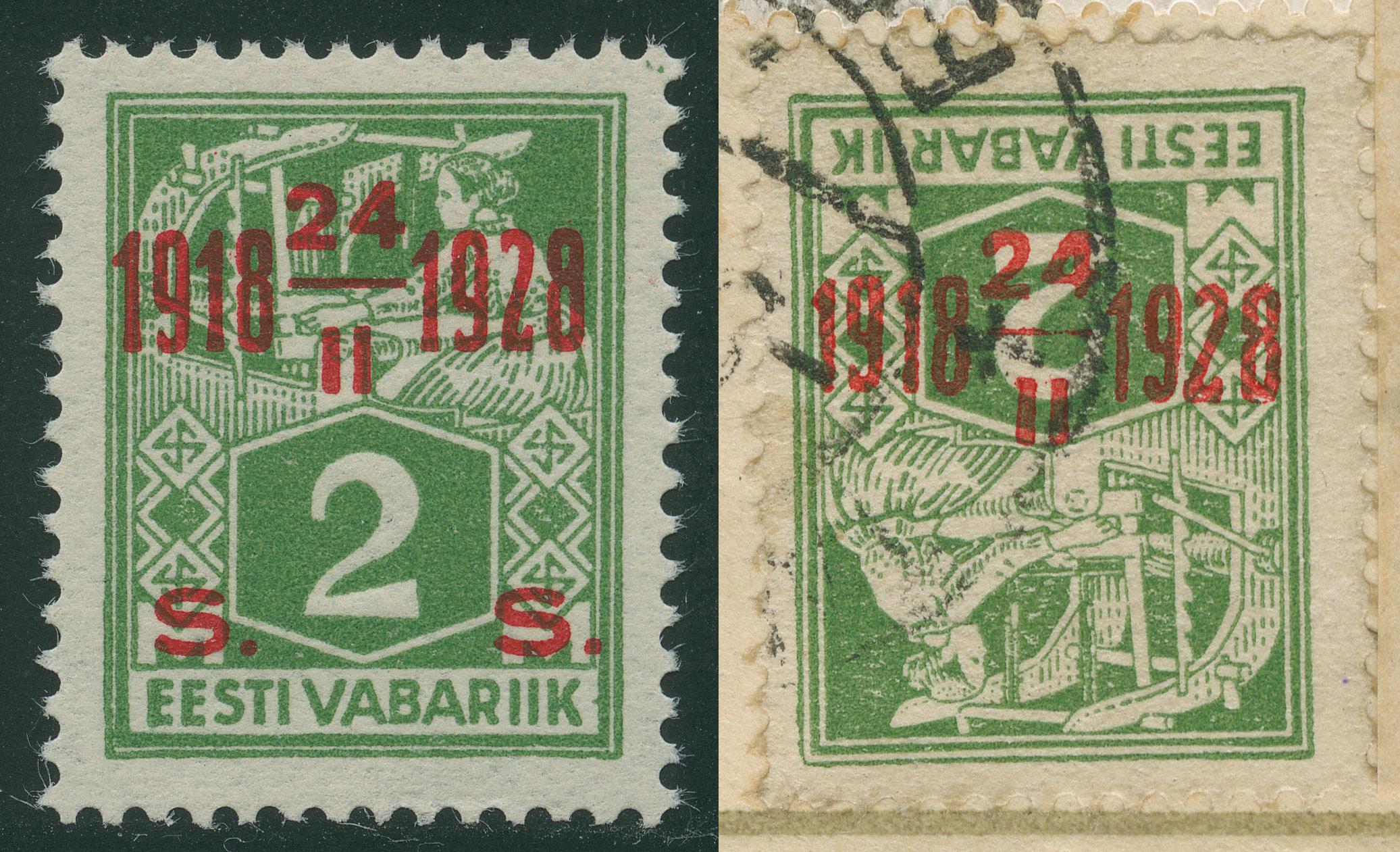 1073d-Mi68-kangur-tagurpidi-juubeliületrükk-1928-võltsing-postiajalugu-ee