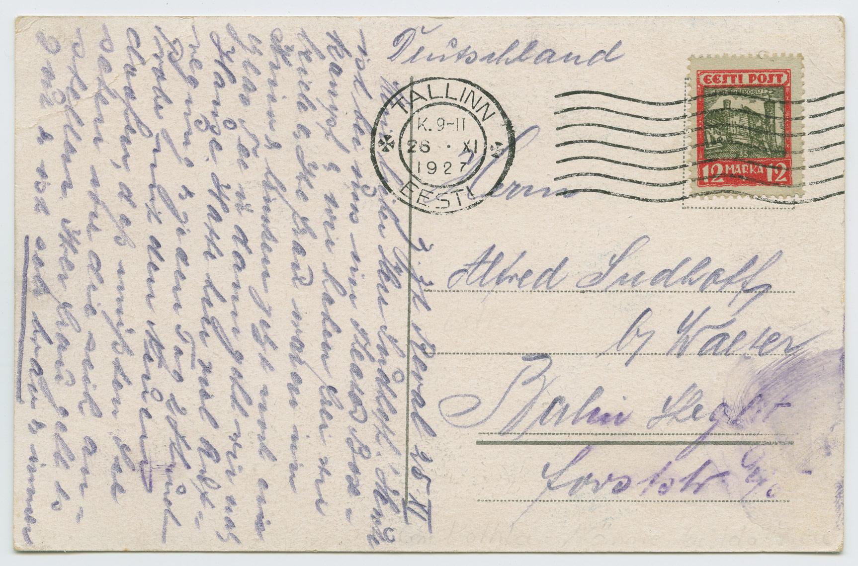 1190a-Linnavaated-12mk-Tallinn-Berlin-1927-postiajalugu-ee
