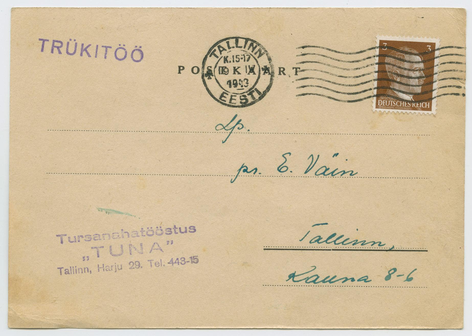 1237a-tursanahatööstus-Tuna-Tallinn-märtsipommitamine-1943-postiajalugu-ee