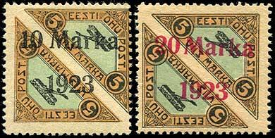 Berliner Auktionshaus Schlegel-lot-1655-Estonia-air-mail-forgeries