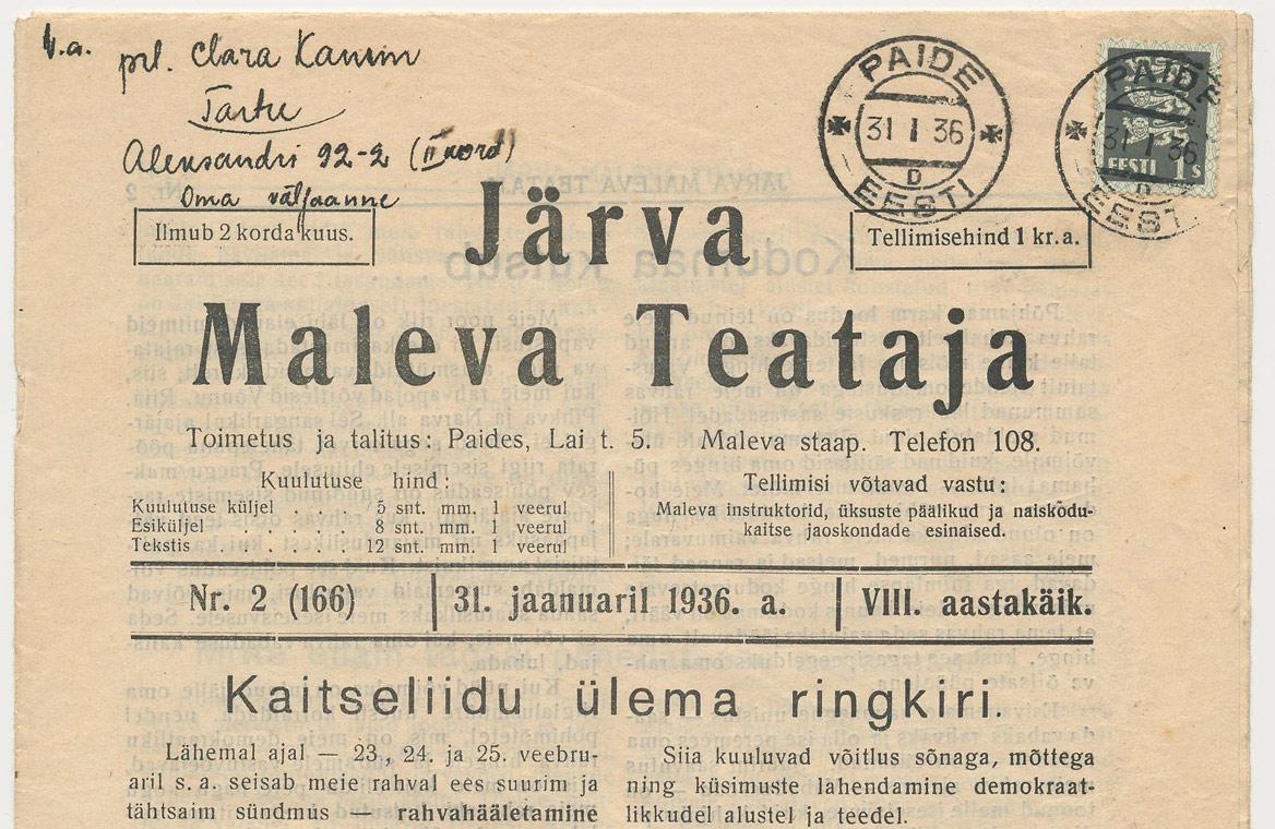 Uudsusi Eesti Postis, Elmar Ojaste_html_6f95f22f