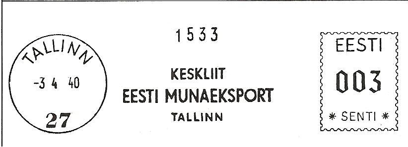 Litsents nr. 27, väljastatud 13. veebruaril 1940.a.