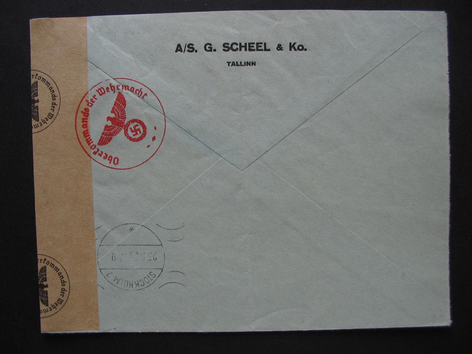 Võltsitud tsensuur, ümbrik tegelikult saadetud 1937 b