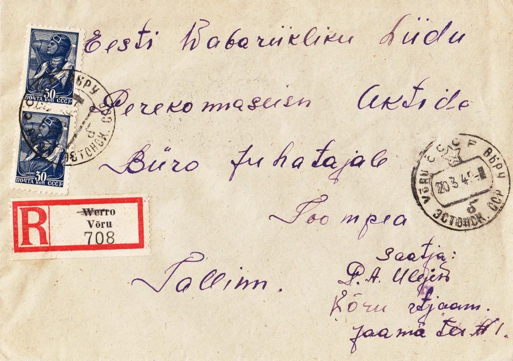 Võru-Tallinn-tähitud-Saksa-R-kleebikuga-1945-Toomas-Kümmel